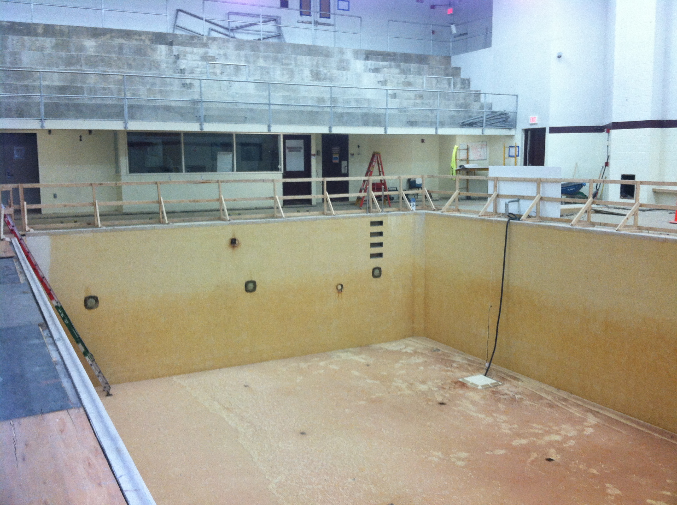 Weinstein Natatorium Drained Pool
